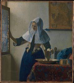 Young Woman with a Water Pitcher, Johannes Vermeer (Dutch, Delft 1632–1675 Delft) Date: ca. 1662