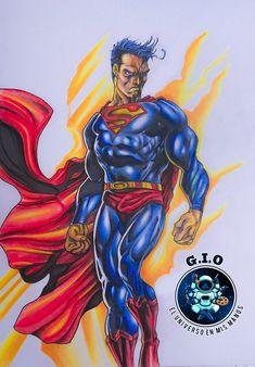 My own handmade version of one of the greatest heroes! My Drawings, Superman, Wonder Woman, Superhero, People, Handmade, Fictional Characters, Women, Student Discounts