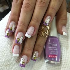 Chic Nails, Love Nails, The Art Of Nails, Beauty Makeup, Hair Beauty, Manicure And Pedicure, Nail Arts, Spring Nails, All The Colors
