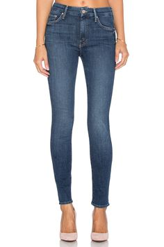 Shop for MOTHER High Waist Looker in Girl Crush at REVOLVE. Free day shipping and returns, 30 day price match guarantee. High Waisted Denim Jeans, Blue Denim Jeans, Mother Denim, High Rise Jeans, Revolve Clothing, Girl Crushes, Skinny Jeans, My Style, Miranda Kerr
