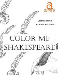 Color Me Shakespeare - AE Book Club - Love Adult Coloring Books!