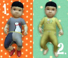 It's all about clutter, Baby Overrides: Set 7 - Light Skin/Boy + Black...