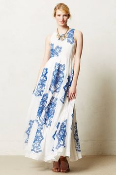 Castaic Maxi Dress - anthropologie