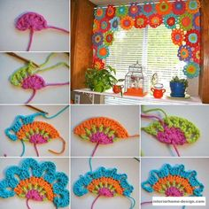 Decorate Your Windows With A Crochet Valance - http://www.interiorhome-design.com/design-ideas/decorate-your-windows-with-a-crochet-valance.html