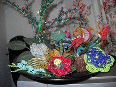 Beads sculpture, bouquet