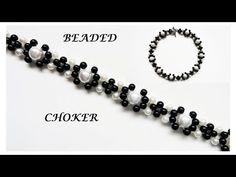 How to make a beaded choker. Easy tutorial - YouTube