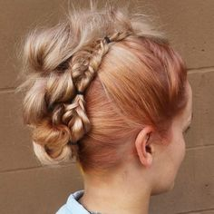 Messy Mohawk with Accent Fishtail Braids