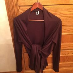 Gorgeous cashmere /silk blend wrap NWOT This is a beautiful chocolate brown cashmere / silk blend wrap. NWOT. XS / small. NO trades BCBG Sweaters