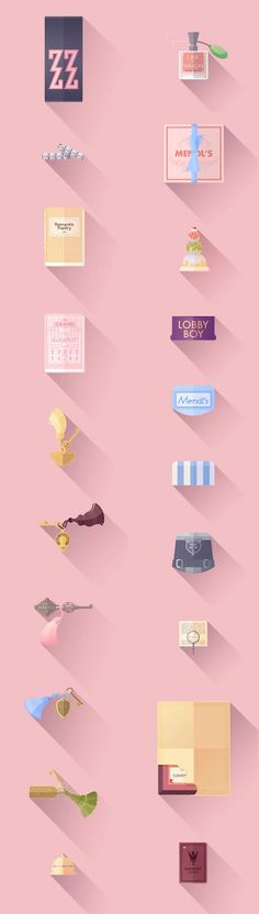 2-The-Grand-Budapest-Hotel-Flat-Illustrations-by-Lorena-G: