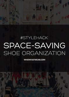 The best tips for making more room in your closet. // #StyleHack #Tips
