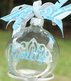 Personalized Frozen Snowflake Princess Floating by TGNCreations