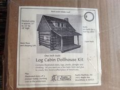 Building a real miniature log cabin!   by Torisaur