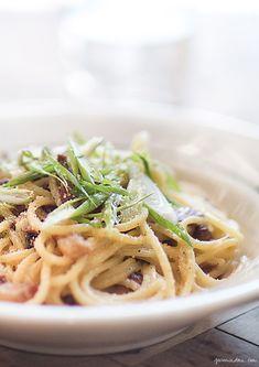 Chitarra alla Carbonara La recette du chef Wade Moises, Rosemary's NYC
