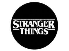 Stranger Things Logo Button Badge