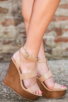 Step Above The Rest Wedge-Nude