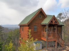 A Breeze - This delightful 2 bedroom cabin for rent in the Smokies with a great view will hold up to 8 people comfortably and is ideal for a family vacation.