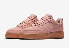 "KIX & LIDZ: Nike Air Force 1 Low ""Particle Pink""...""Particle Pink"" is the new color that decorates the Nike Air Force 1 Low. The soft color suede covers the entire upper, while a gum midsole is paired alongside. Leather hints appear on the tongue of the shoe and heel, completed with Nike Air branding. These are expected to hit retailers and Nike's webstore this Fall."