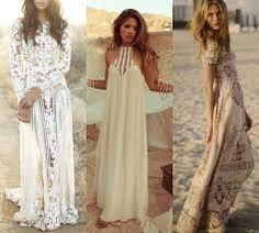 Znalezione obrazy dla zapytania sukienka boho biała