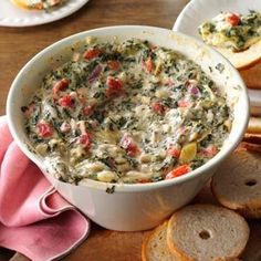 Five-Cheese Spinach & Artichoke Dip Recipe -Whenever I go to an event, I'm…