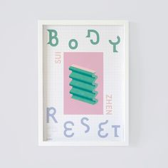 Cassette Packaging and poster Design for Sui Zhen - Body Reset Eskers Records, Japan.