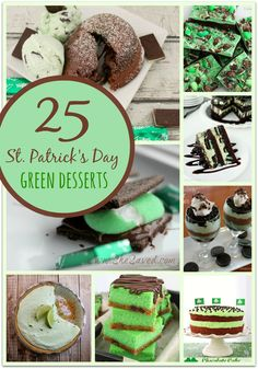 I've got a *sweet* round up of 25 St. Patrick's Day Green Desserts for you! Find all kinds of goodies from loaded trail mix to chocolate lava cake. Yum!
