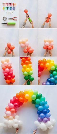 TUDO PRA SUA FESTA: Como fazer Arco de Balões