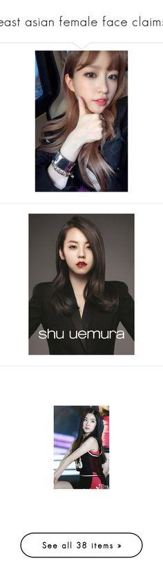 """east asian female face claims"" by heresaudrey ❤ liked on Polyvore featuring people, models, jenn im, red velvet, kpop, irene kim, irene, kiko mizuhara, dolls and girls"