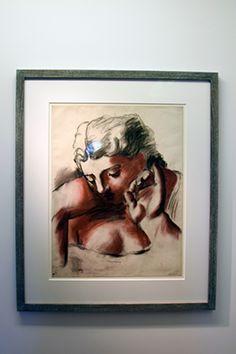 """Etude pour """"Trois femme à la fontaine"""" : buste de la femme du centre - 1921 - sanguine, fusain et gommage sur papier Picasso, Paris, Centre, Painting, Charcoal Picture, Toile, Woman, Montmartre Paris, Painting Art"""