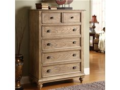 Shop for Riverside 5-drawer Chest, 109517, and other Bedroom Chests and Dressers at Oskar Huber Furniture in Southampton, PA and Ship Bottom, NJ. Drawers have dovetail joinery and ballbearing extension guides. Bottom drawer has a Cedar veneer bottom, all others are felt-lined.