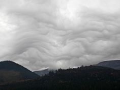 High Tatras, Slovakia. Beautiful strange clouds.