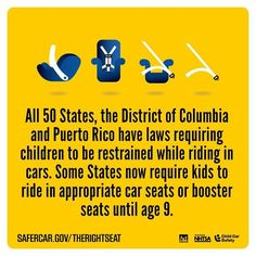 CAR SEAT SAFETY LAWS IN ALL 50 STATES  http://ift.tt/1h6EsOQ #therightseat #pin