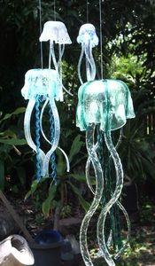 Glass jellyfish wind chime
