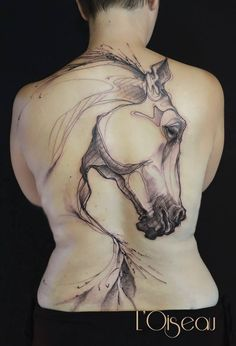 I like this one if I ever got a tattoo!!! Breath-taking backpiece by L'oiseau...