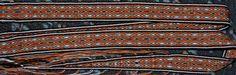 woven in cotton, 24 tablets, 150 cm long. La terminación decreciente me encanta!!!