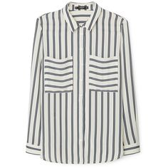 Pocket Striped Shirt (€39) ❤ liked on Polyvore featuring tops, long sleeve stripe shirt, striped long sleeve top, pocket shirt, shirts & tops and striped long sleeve shirt