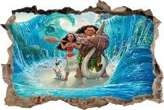 Moana Smashed Wall Decal Graphic Wall Sticker Art Mural Disney Princess H716, Regular