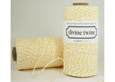 cutetape.com - Yellow Bakers Twine- Yellow Twine Cotton Bakery Packaging Divine Twine