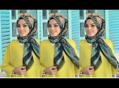 En Çok Kullanılan Şal Bağlama Modelleri - YouTube Square Hijab Tutorial, Hijab Style Tutorial, Scarf Tutorial, Islamic Fashion, Muslim Fashion, Modest Fashion, Hijab Fashion, Women's Fashion, Turbans
