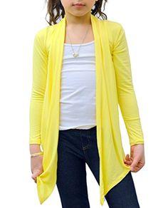 Big Girls' Long Sleeve Flyaway Cardigan Sweater *** More info @