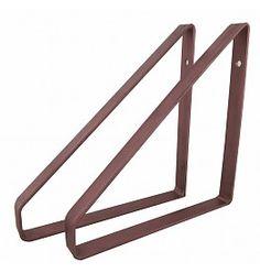 Stoer Metaal plankdragers koperkleurig, 21 of 31 cm First Home, Home Bedroom, Clothes Hanger, Magazine Rack, Shelves, Interior Design, Storage, Wood, House