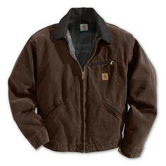 Carhartt Men's Sandstone Detroit Jacket (Dark Brown, Size XX Large) - Men's Work Apparel, Men's Work Jackets at Academy Sports