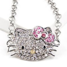 Cute Crystal Kitty Face Bling Bracelet Sparkle Diamante Jewelry