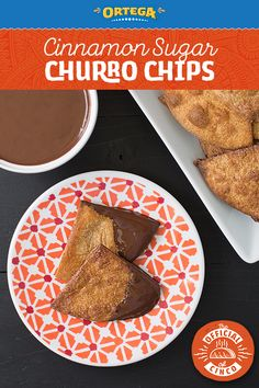 Don't forget dessert for your Cinco de Mayo meal! It's simple and easy to toss these Churro Chips together. They pair well with our Mexican Chocolate Sauce! Mexican Food Dishes, Mexican Dessert Recipes, Hot Chocolate Sauce, Mexican Hot Chocolate, Churro Chips, Easy Tortilla Recipe, Fall Snacks, Gourmet Cooking, Dessert Drinks