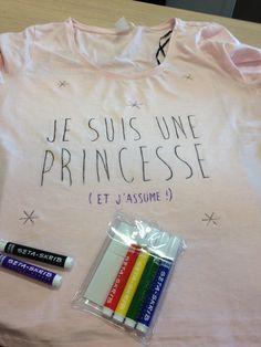 DIY tee shirt et feutres textiles
