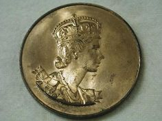 Queen #elizabeth ii #viking ship #coronation medal coin june 2,1953,  View more on the LINK: http://www.zeppy.io/product/gb/2/121986444618/