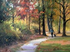 Baywoods Stroll by Lisa Mitchell Oil ~ 12 x 9