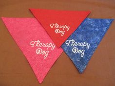 Custom Therapy Dog Bandanna, all sizes available by FurriPersonal on Etsy
