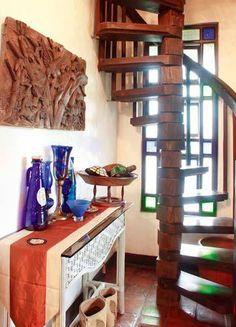 The whimsical and characteristically Pinoy qualities of the fabled Ibong Adarna are encapsulated in this one-of-a-kind home Ibong Adarna, Pinoy, Filipino, Whimsical, Loft, Traditional, Chair, Antiques, Bed
