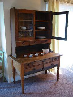 Antique Bakers Cabinet | Possum Belly Bakers Cabinet | Vintage ...