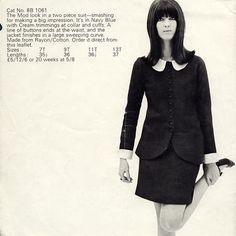 Cathy McGowan Boutique Catalogue Sixties Fashion, Mod Fashion, Vintage Fashion, Disco Fashion, Fashion Stores, Punk Fashion, Vintage Beauty, Fashion Trends, Retro Mode